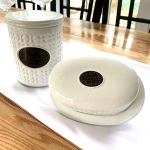 BRAND NEW THL sugar canister and butter dish